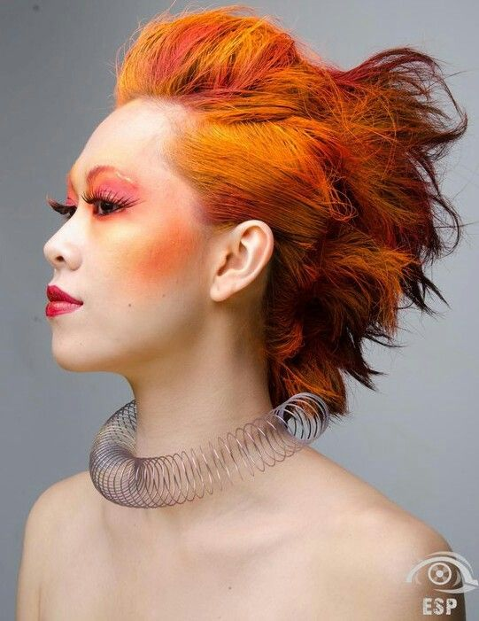 Fire Hair and Makeup