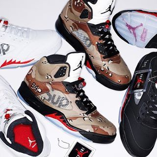 @supremenewyork x @jumpman23 Air Jordan 5 Release tomorrow : 16.10.2016 Online & London Store #supreme #AJ5 #HotRelease #asics #sneakeraddict #instagramanet #sneakershouts #kicks