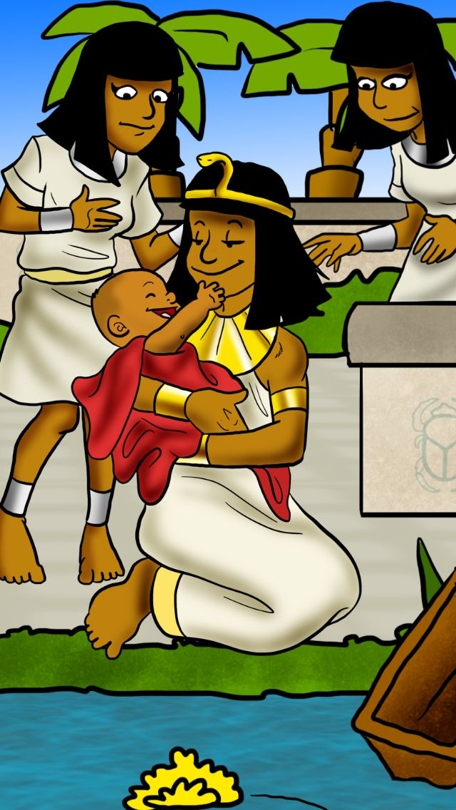 "Even though Pharaoh's daughter found Moses in a basket, God organized it so Moses own mother could take care of him. ""The girl went and called the baby's own mother. Pharaoh's daughter told her, ""Take this child away and nurse it,"" ...and when he had grown some, she brought him to Pharaoh's daughter and he became her son."" (Ex 2:8-10)"