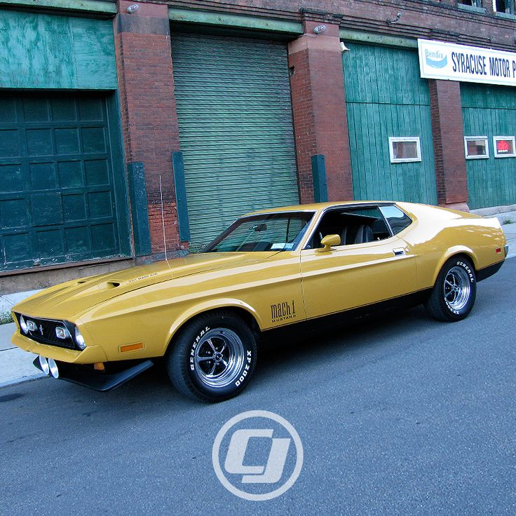 You don't see a lot of 71-73 #Mustangs but it's hard to miss Josh P.'s Mach 1.
