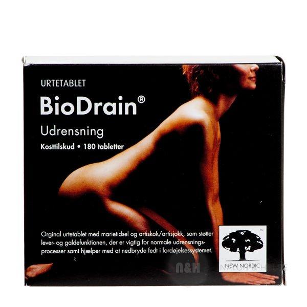 BioDrain giver din krop mulighed for at blive renset igennem.   BioDrain er en udrensningskur, som indeholder marietidsel og artiskok, som eksempelvis hjælper til at nedbryde fedtstoffer i tarmsystemet.