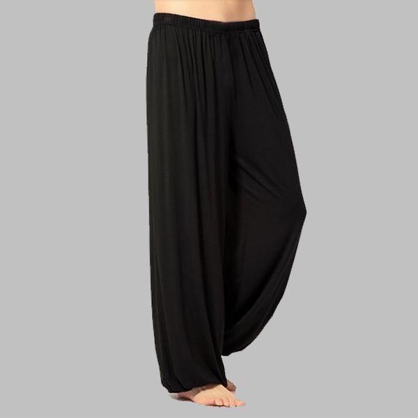 FREE SHIPPING, plus size pants men and women Modal bloomers pants home tai chi  sweat Pants both free shipping