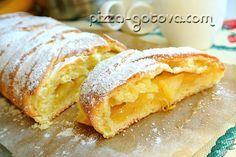 Рецепт творожного пирога с яблоками