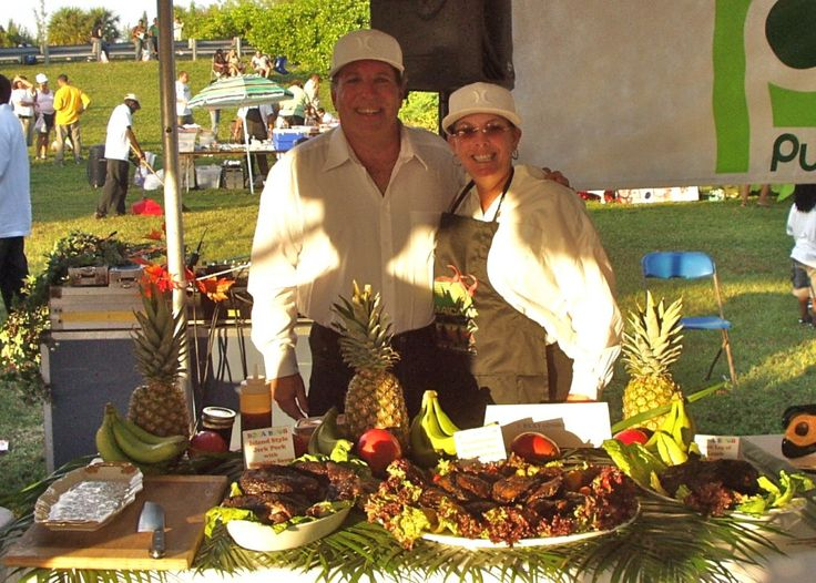 Ricky Ginsburg of the Boca BBQ Boys and Treasurer of the Florida BBQ Association, shows the Jamaican Jerk Festival what real jerk is all abo...