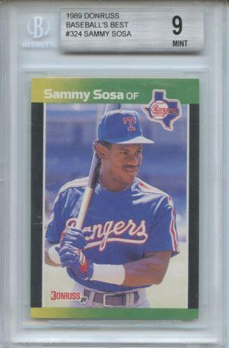 1989 Donruss Baseball's Best Sammy Sosa Beckett Grading 9