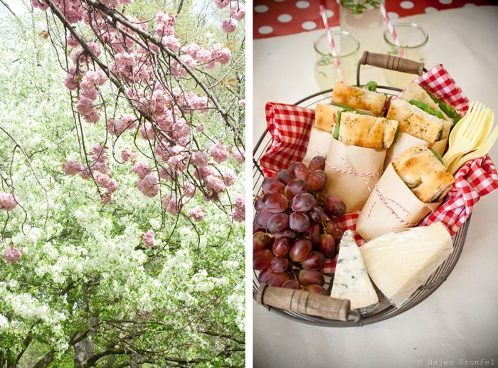 Picnic menu: Mozzarella Sandwiches, Strawberrry Brulee & Lemonade