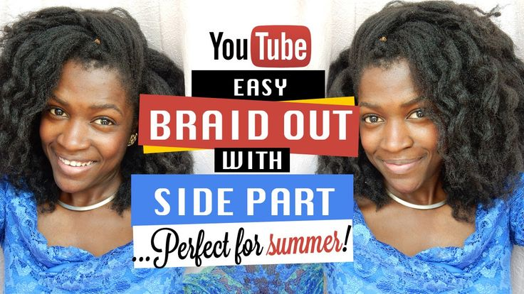 NEW Natural Hair Braid Out Hairstyle Video Tutorial!