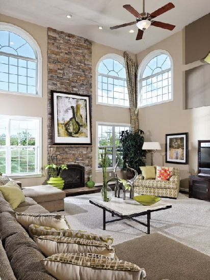Model Home Designs Top Story Entry Way New Home Interior