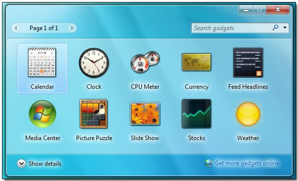 Top Desktop Gadgets For Windows 7: Clock, Weather, Calendar, Sticky Notes Gadgets with Download Links