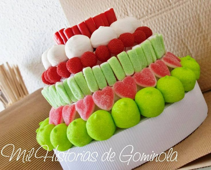 #Tarta de #chuches para #comuniones  #bautizos o #cumpleaños #sweet #candy