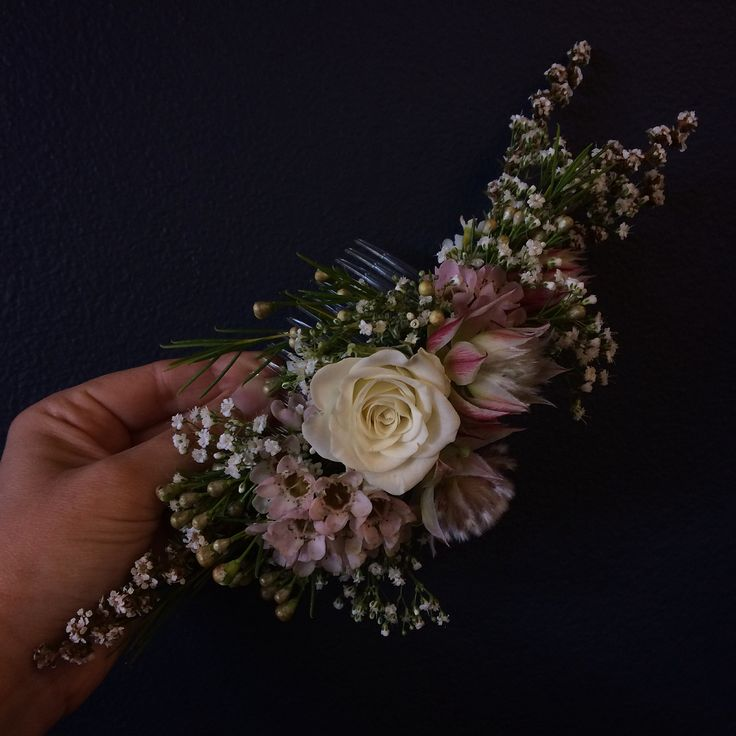 Working on some floral hairpieces for the beautiful Jen and her rustic rainforest wedding