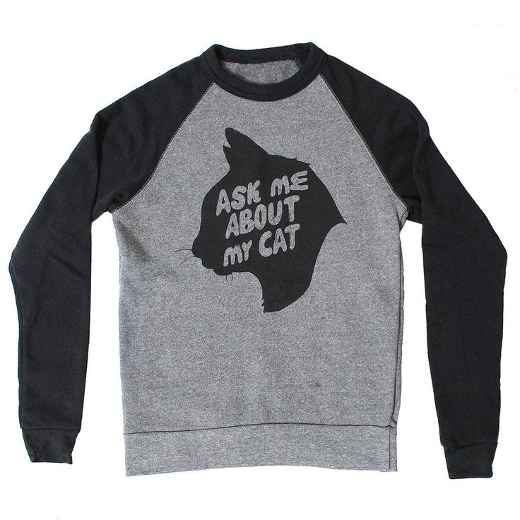 Ask Me About My Cat Sweater, www.kinshipgoods.com