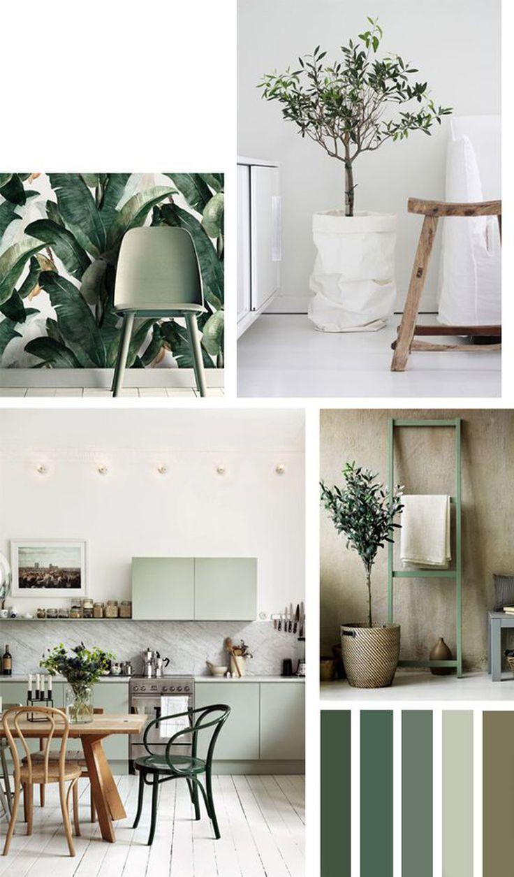 Olijfgroen woontrends COOL Woonkamer groen Huis