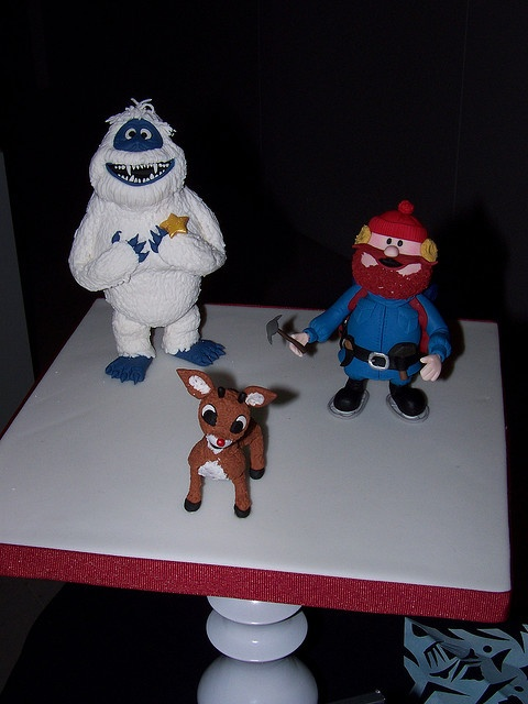Rudolph, Yukon, and the Bumble! (fondant)