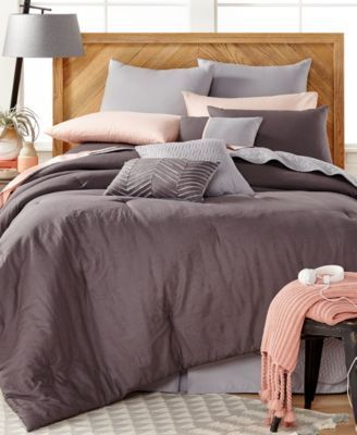 Washed Linen 14-Pc. Comforter Set, Only at Macy's  $107.99 Transform your bedroom into an oasis of contemporary style and comfort with these Washed Linen comforter sets, featuring all the elements you'll need for a finished look rendered in beautiful charcoal, blush and dove tones.
