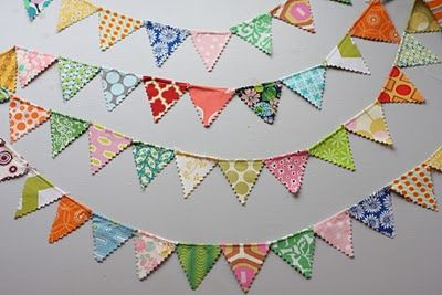 A tutorial for a reusable bunting banner. Perfect for a nursery, birthday party, holiday, celebration or just for fun! Could also be no-sew with some crafts glue (which is my kind of craft!).