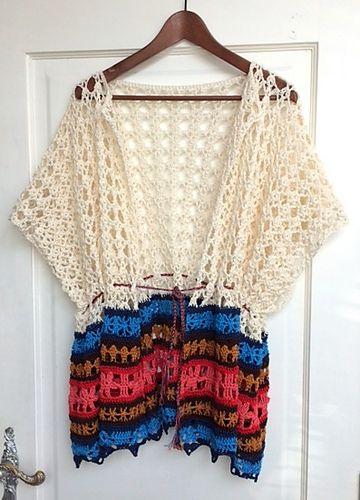 Summer poncho By Tina B. - Purchased Crochet Pattern - (ravelry)