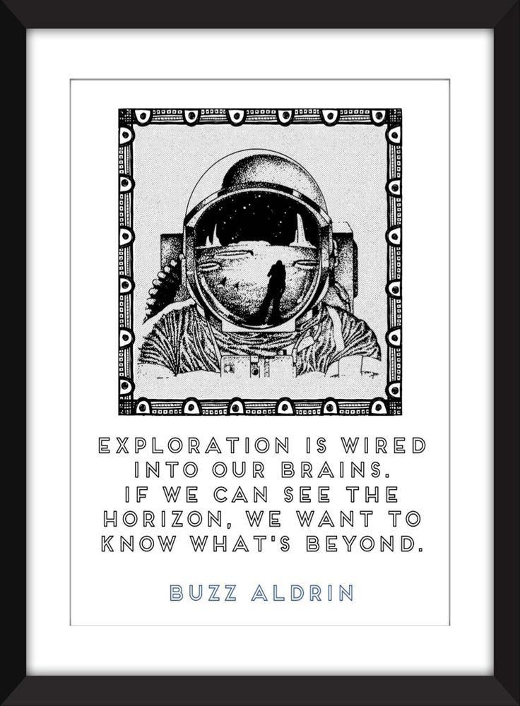 "Buzz Aldrin ""Exploration"" Quote 11 x 14/8 x 10/5 x 7    A3/A4/A5 Print Typography Artwork, Gift for Astronomy/Space Fans by TheWordAssociation on Etsy"