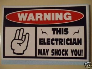 Funny Electrician | ELECTRICIAN MAY SHOCK YOU FUNNY THE SHOCKER STICKERS DECALS