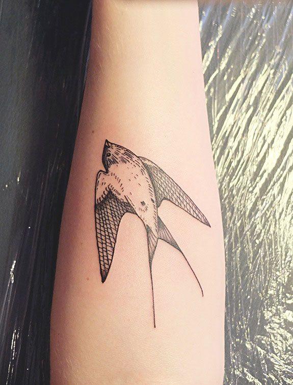 Diana Katsko | beautiful swallow tattoo #rasspink #hipster