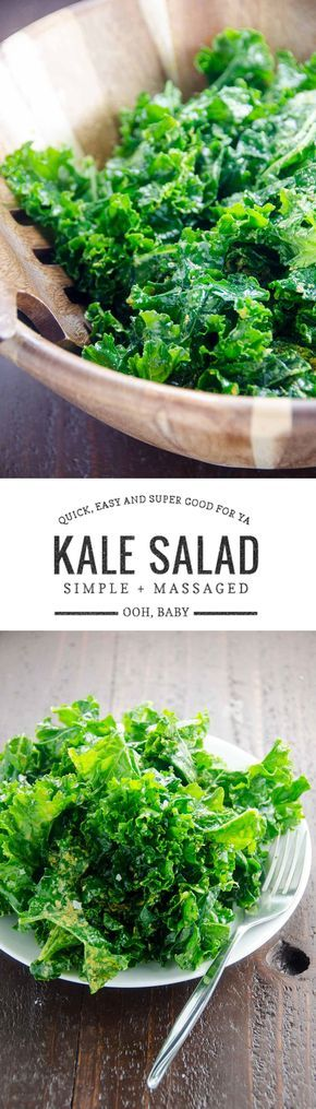This simply dressed massaged kale salad is a quick and delicious way to get your dark leafy greens. Optional nutritional yeast adds a fabulous pop of umami.