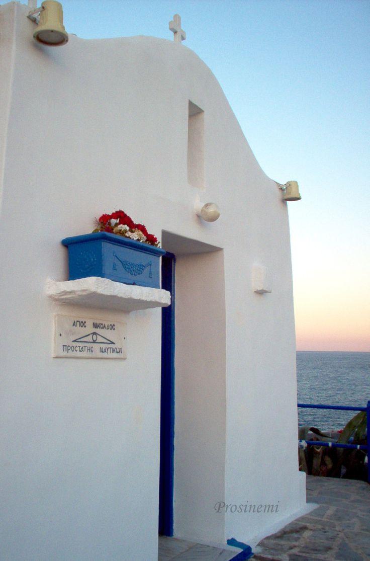 ON SALE photos 2016 Blue white summer, travel photo print, summer photo, Greece , mediterranean, small white greek church, Saint Nicolas - €12.00 EUR