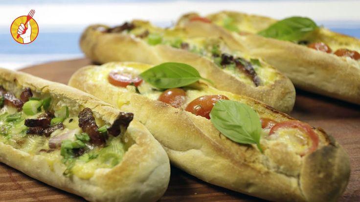 Los barquitos de pan son una forma sencilla de preparar un sándwich diferente. Ideales para calmar un antojo o llevar de vianda a todos lados. Se hacen muy r...