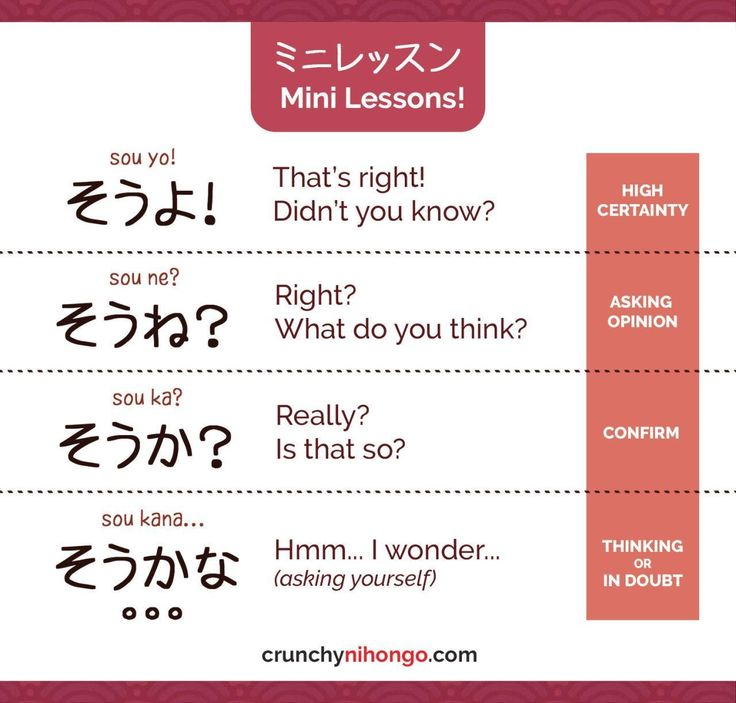 "easy-japan: ""Today's card will help you to understand difference nuance between そうよ、そうね、そうか、and そうかな。。。BUT THAT'S NOT ALL! By understanding them, you will also be able to get better understand with ending-particle (よ,ね and か) ! It's like hitting 2... #easyjapaneselanguage"