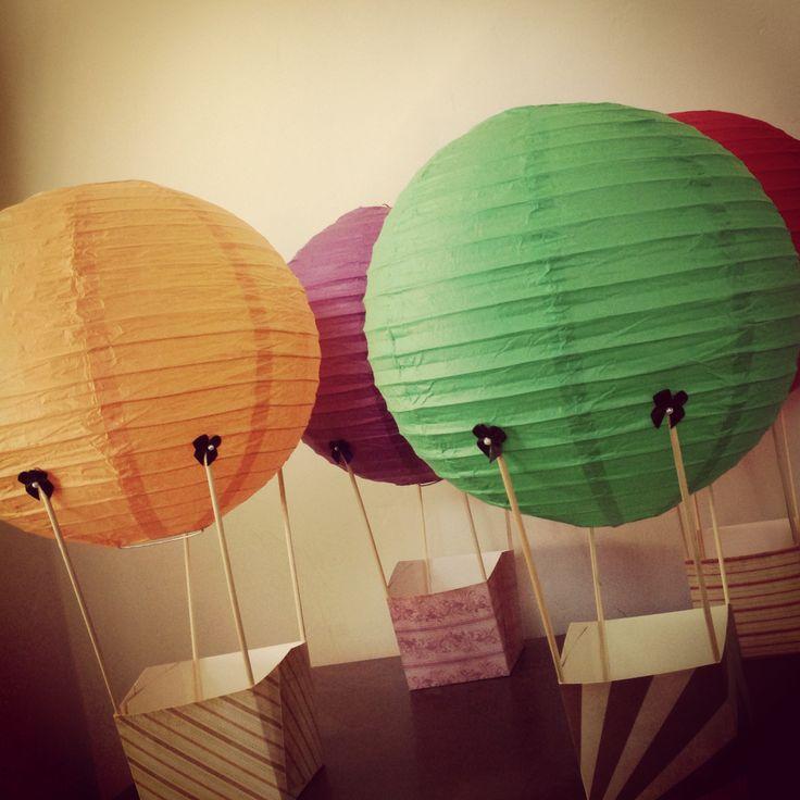 Up up and away!!! Hot air balloon centerpieces!!! #diy # ...