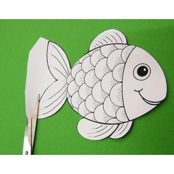 Die besten 17 ideen zu fische basteln auf pinterest bio - Fische basteln vorlagen ...