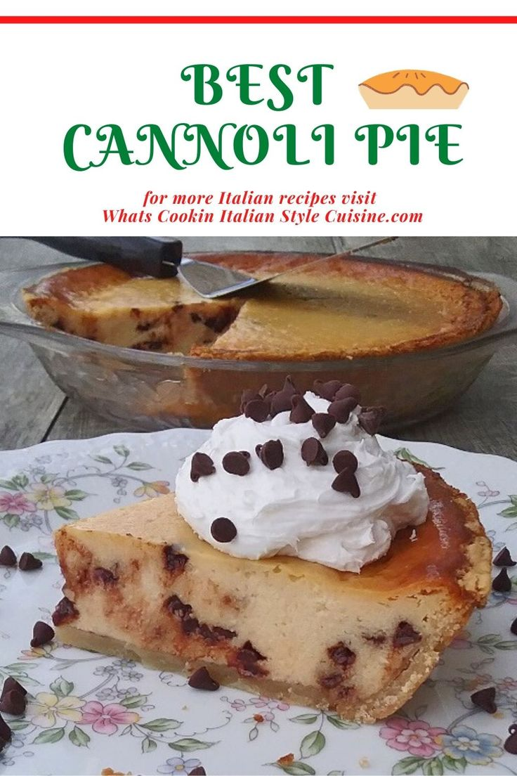 If you love cannoli, this pie shouts the Italian pastry in every bite. An easier way to satisfy that urge for this class…
