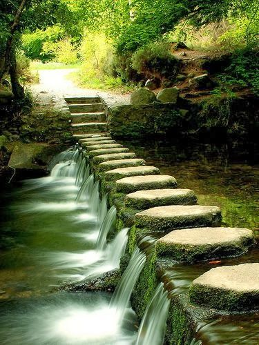 Stepping Stones, would be awesome to have these across a pond on my property. Oh my dreams are running wild. Fun!
