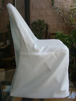 Ivory Folding Chair Covers PERFECT!! 10 covers for 4$... yes.