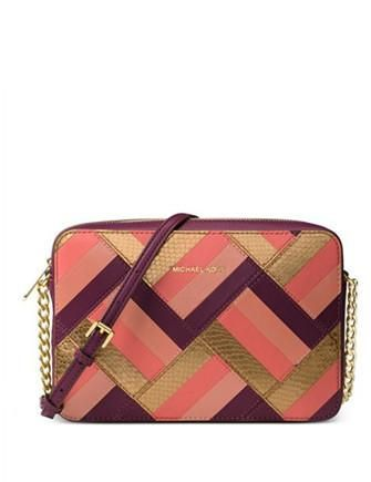 4822644ce7ed Michael Michael Kors Marquetry Patchwork Jet Set Large EW Crossbody |  Handbags Collage | Pinterest | Michael kors, Jet set and Handbags