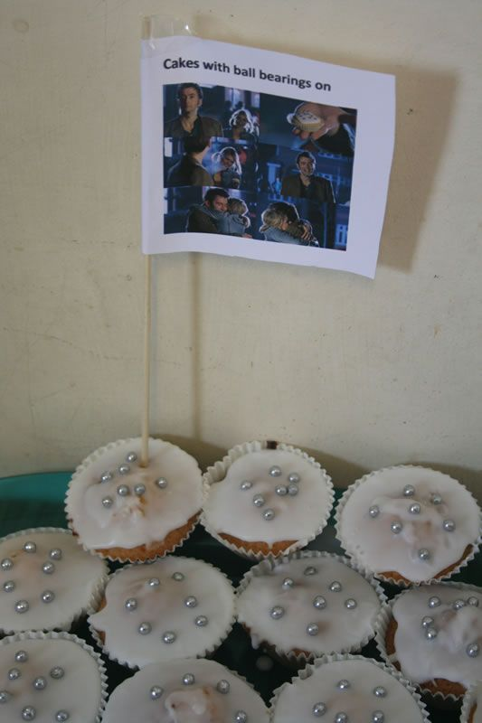 Among other things, cupcakes with ball bearings on them. (Oh, and a mention of celery!)