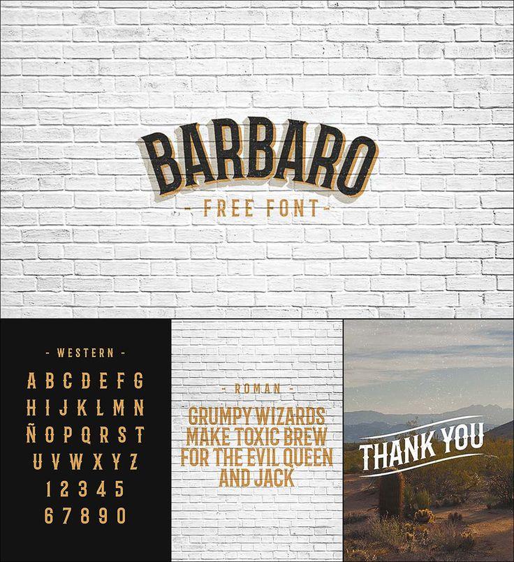 Barbaro free retro font