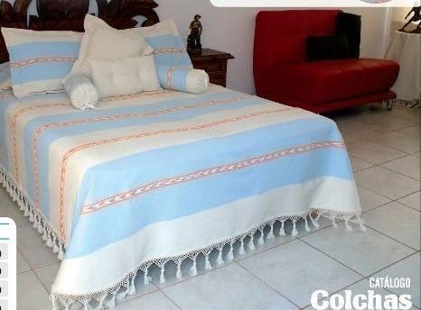 Colcha De Manta Artesanal Oaxaqueña Sobrecamas Y Colchas