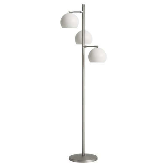 Cool Solid Spotlight Floor Lamp Simply White CFL