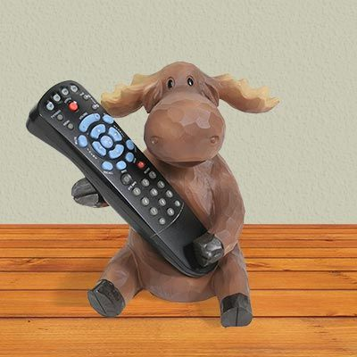 The Moose TV Remote holder is designed to sit on a coffee table and be in easy reach as you watch TV.
