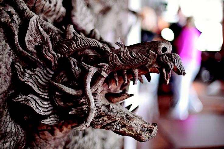 3D wooden dragon wall art  #interiors #design #cruise