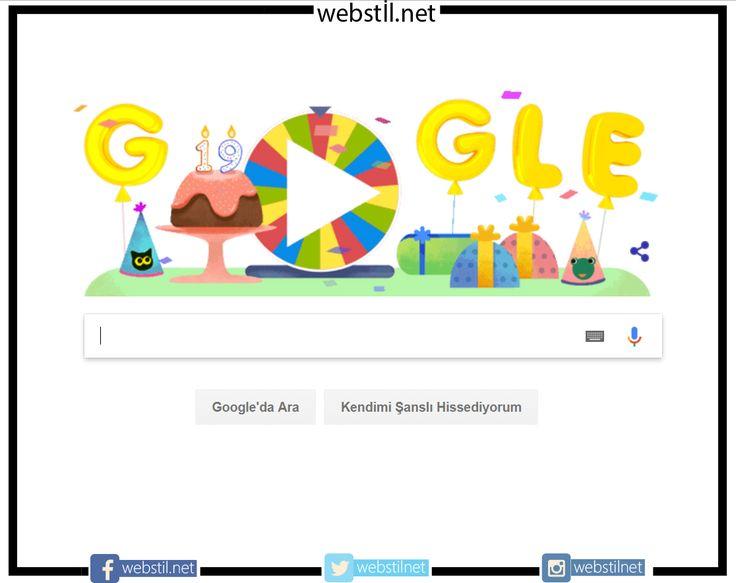 Bugün Google 19 yaşında. 🎂🍰 webstil.net iletisim@webstil.net #google #doğum #günü #webstil