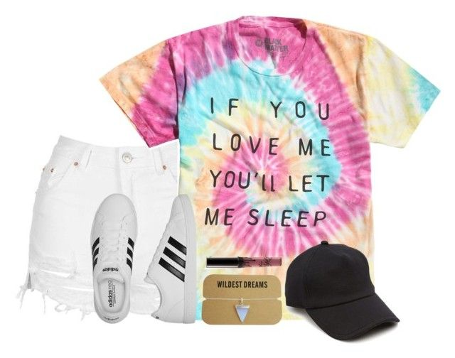 """""""Casual"""" by haileypariswatson ❤ liked on Polyvore featuring Topshop, adidas, rag & bone and Kylie Cosmetics"""