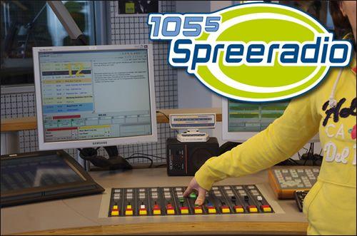 """105.5 Spreeradio"" - Berlins egen, populære lokalradio."