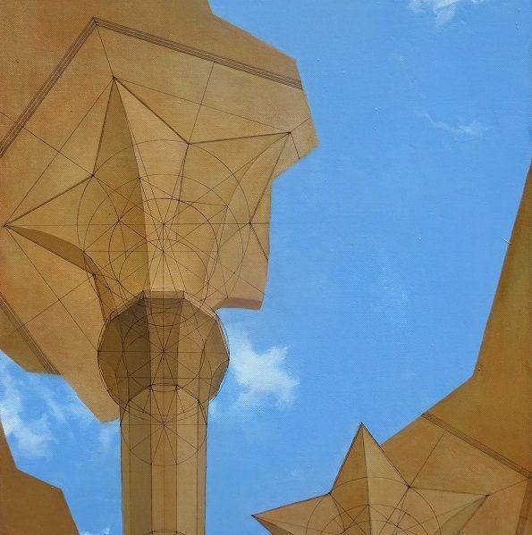 """Работа Колистратова Дмитрия """"Воздушные замки"""", прежде всего, вызывает ассоциацию с таким явлением, как «бумажная архитектура». Утопические архитектурные проекты, так и оставшиеся на бумаге, стали своеобразным памятником идеи - грандиозной и фантастической.  Интерьерно картина впишется в стили минимализм, хай-тек, неоклассика. ____________________________________________ Эту картину можно купить, а можно бесплатно примерить в вашем интерьере или взять в аренду. Перейдите по ссылке на сайт и…"""