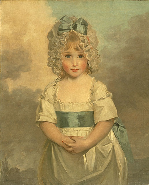 Miss Charlotte Papendick as a Child, 1788, John Hoppner (1758 - 1810) (Became ass. keeper of Queen Charlotte's Wardrobe and wrote a famous diary!):