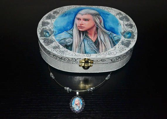Elven king  Jewellery box and necklace elf fantasy
