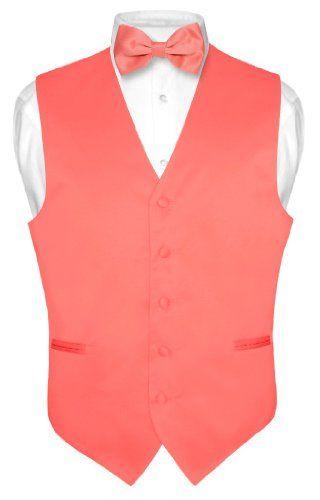 Men's Dress Vest BOWTie CORAL PINK Bow Tie Set for Suit or Tuxedo Medium Vesuvio Napoli,http://www.amazon.com/dp/B00C2KG5PU/ref=cm_sw_r_pi_dp_XKlDsb0HHRSR95CS