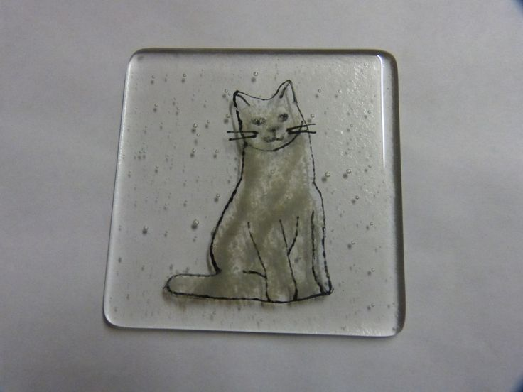 Cat coaster from; www.lowmarfusedglass.co.uk