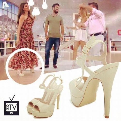 Stamatina Tsimtsili with her #MIGATO DF3012 beige high heels.