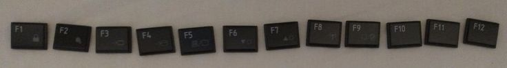 F Key caps from Toshiba Satellite L755 / MP-09M83US6920 Laptop Keyboard #Toshiba